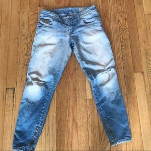 Diesel Jeans - Diesel Grupee Zip Ankle Super Skinny Slim Jeans 26